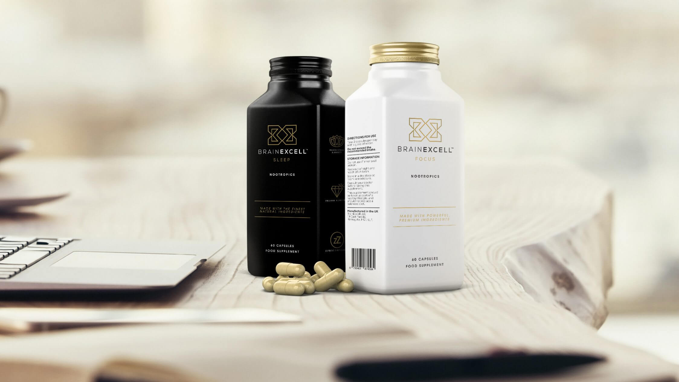 Website design for nootropics supplement company