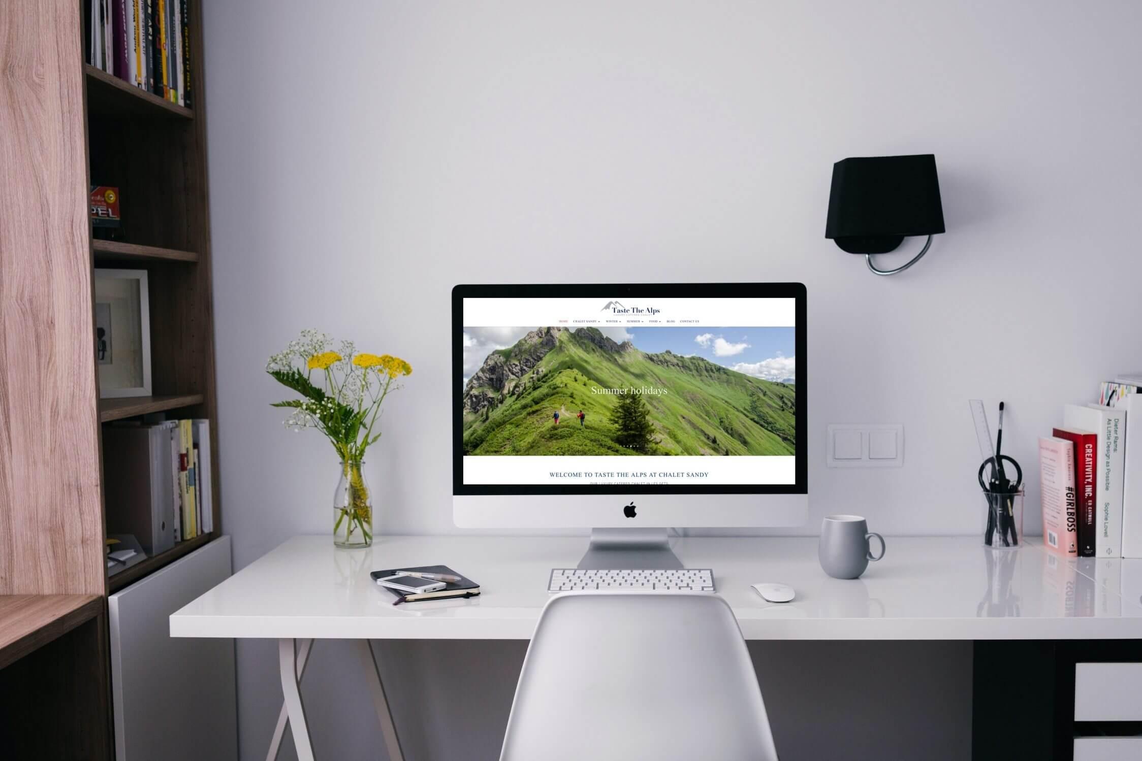 Website design for ski chalet company