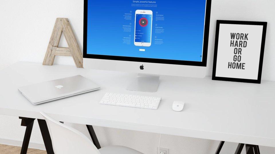 Website design for project management app