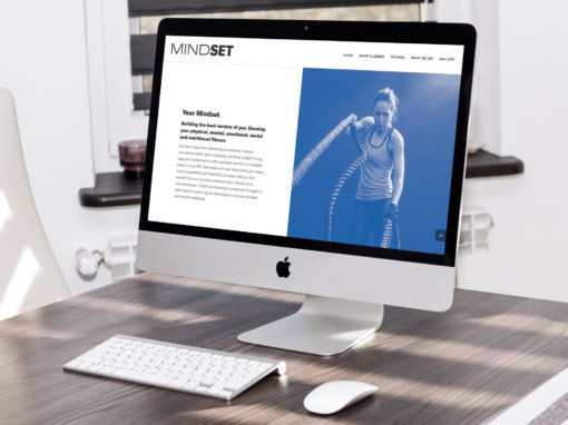 Website design for high end gym